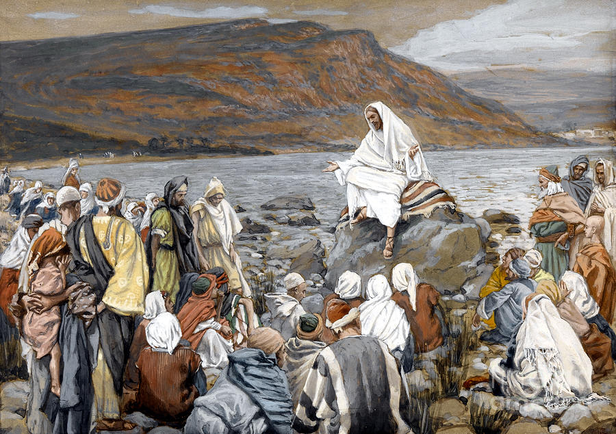 Tissot Painting - Jesus Preaching by Tissot