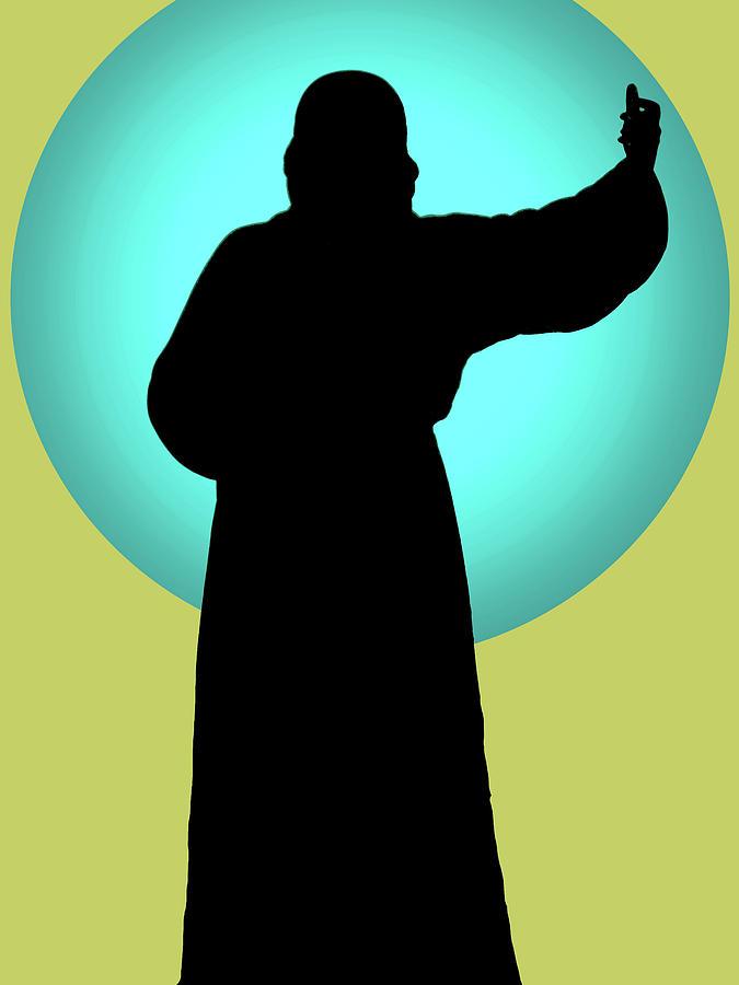 Catholic Spirituality Mixed Media - Jesus Shape No. 01 by Ramon Labusch