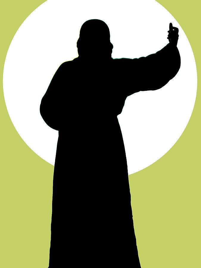 Bahaullah Mixed Media - Jesus Shape No. 02 by Ramon Labusch