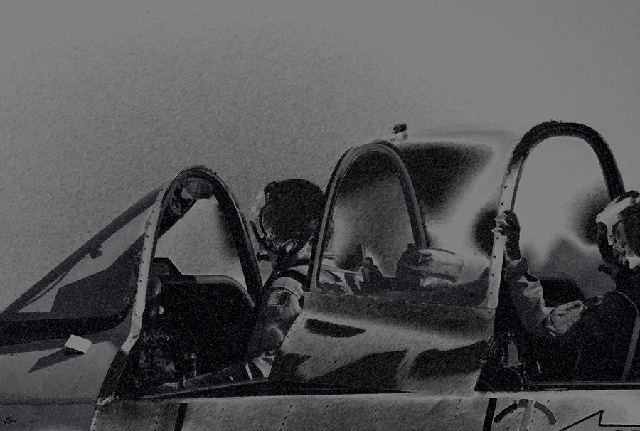 Military Photograph - Jet Pilots by Karol Livote
