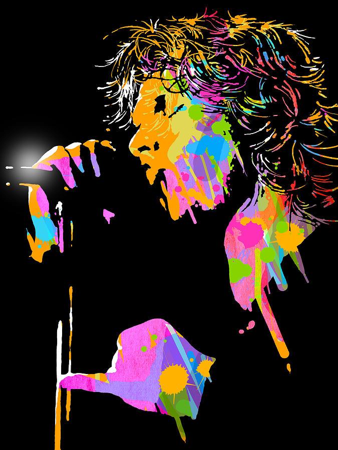 Blues Painting - Jim Morrison by Paul Sachtleben