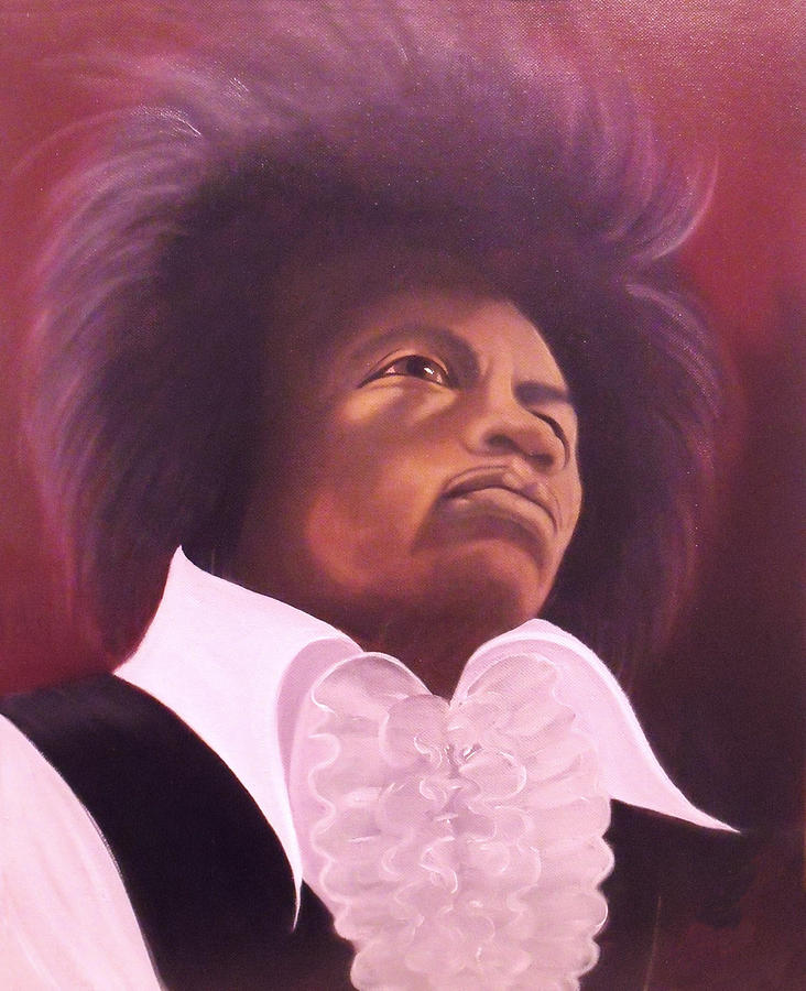 Portrait Painting - Jimi Hendrix by Helen Thomas