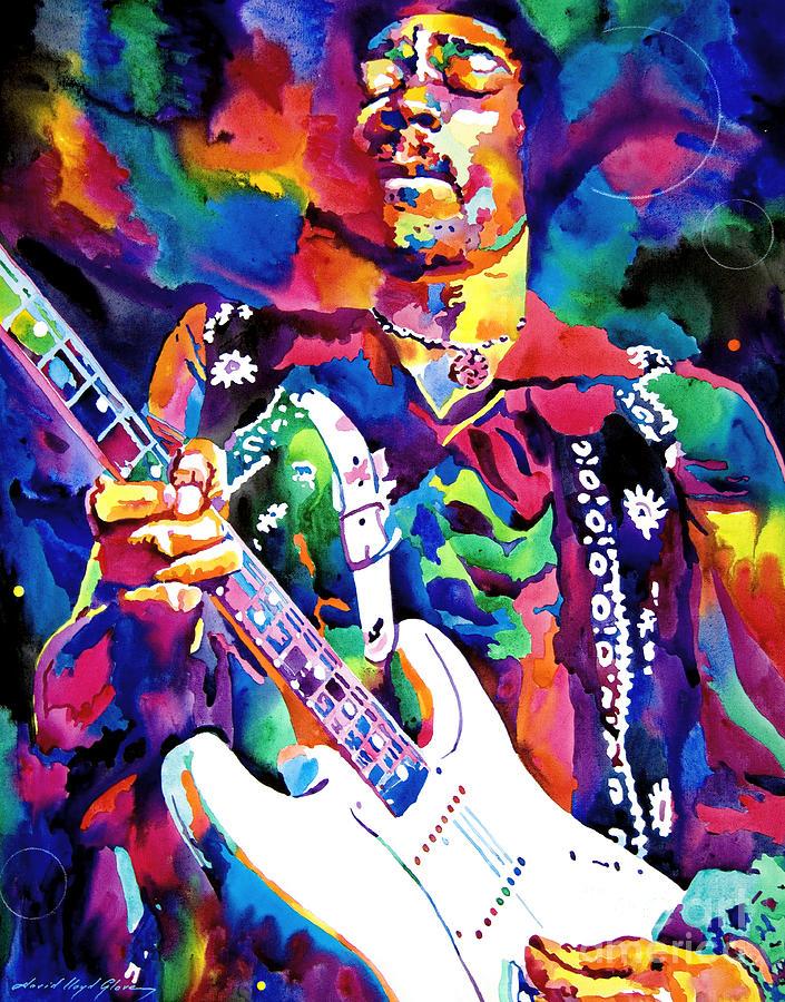 Jimi Hendrix Painting - Jimi Hendrix Purple by David Lloyd Glover