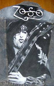 Jimmy Page Painting - Jimmy Page Jacket           Email Me For Price Size Etc by Janet Gioffre Harrington