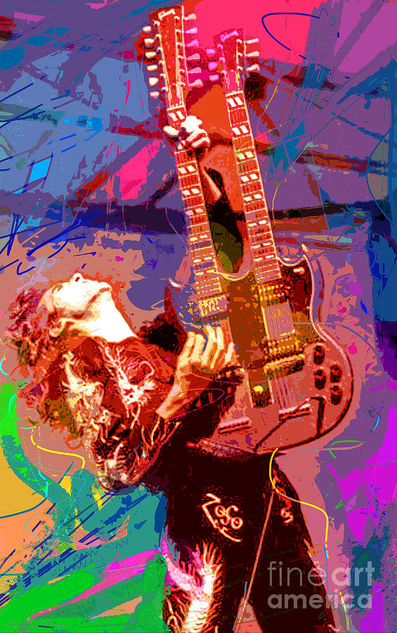 Jimmy Page Stairway To Heaven Painting