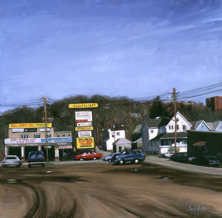 American Landscape Painting - Jimmys Alltire by Sarah Yuster