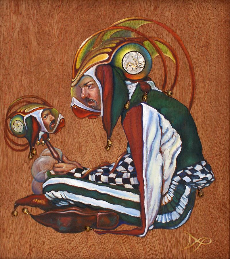 Jester Painting - Jinglebats by Patrick Anthony Pierson