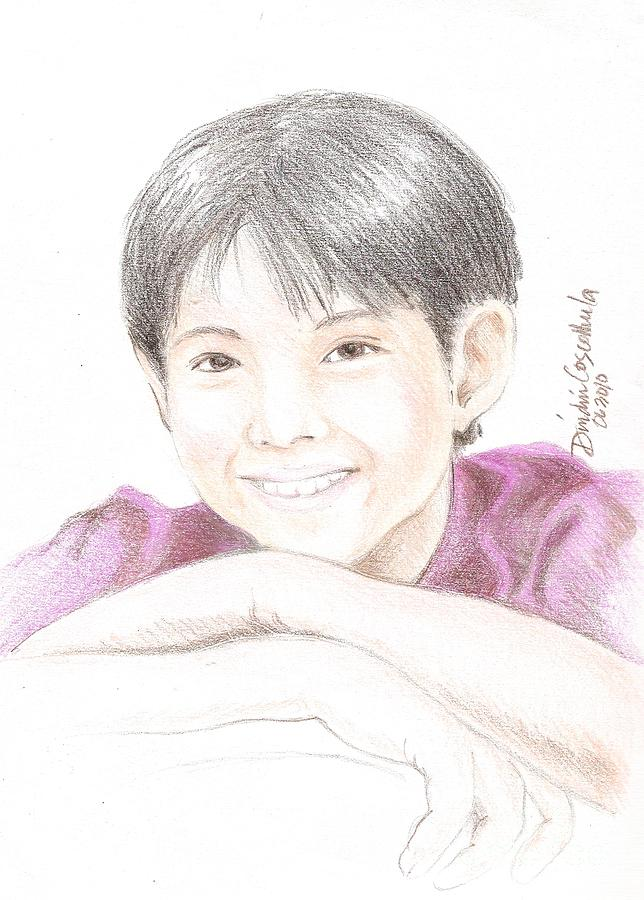 Jiro Manio Drawing - Jiro by Dindin Coscolluela