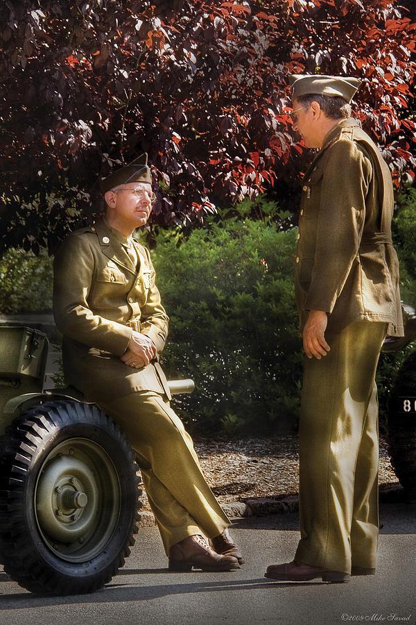 Savad Photograph - Job - Army - Remembrance  by Mike Savad