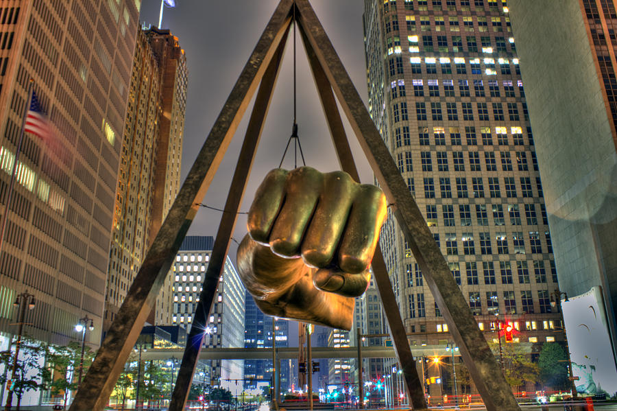 Dj Just Nick Digital Art - Joe Louis Fist Detroit Mi by Nicholas  Grunas