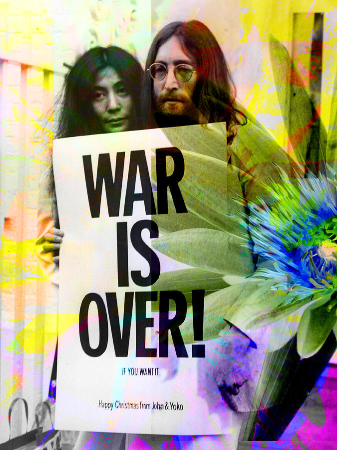 John Lennon Photograph - John And Yoko - War Is Over by Andrew Osta