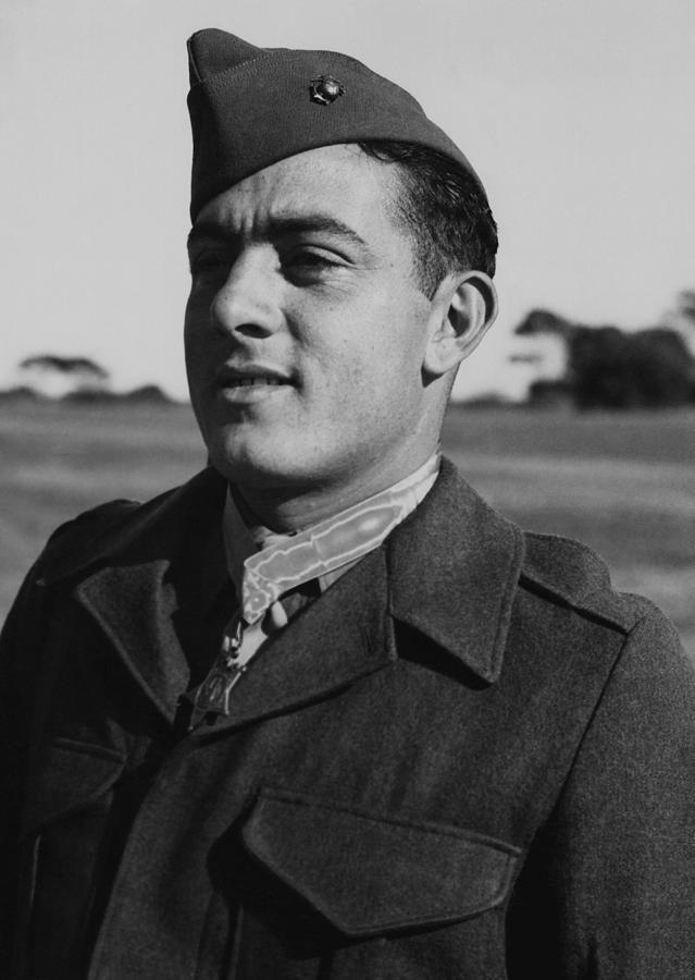 John Basilone Photograph - John Basilone by War Is Hell Store
