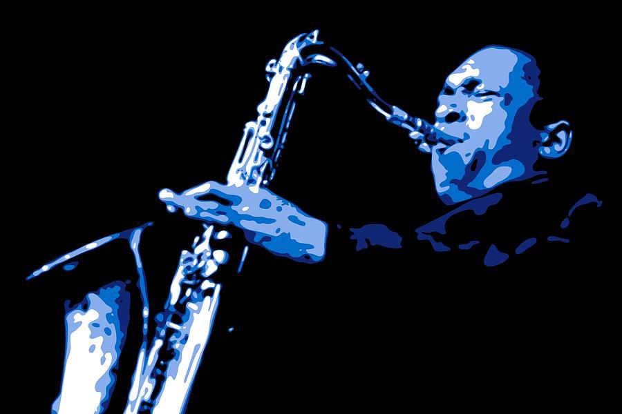 John Coltrane Digital Art - John Coltrane by DB Artist