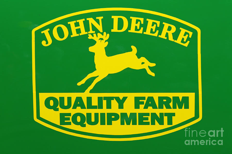 John Deere Photograph - John Deere Farm Equipment Sign by Randy Steele