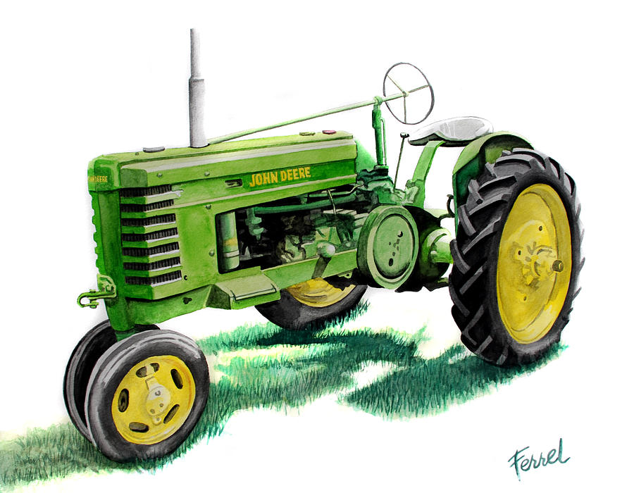 Jd Tractor Paint : John deere tractor painting by ferrel cordle