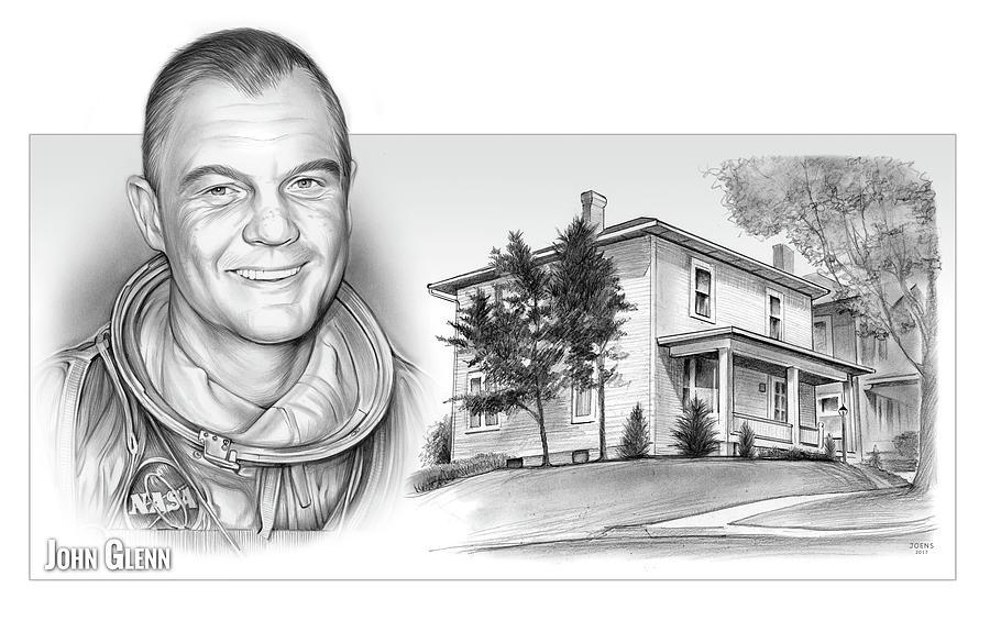 John Glenn Birth Place 2 Drawing