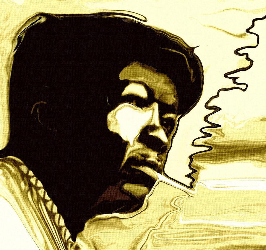 Musicians Painting - John Lee Hooker by Jeff DOttavio