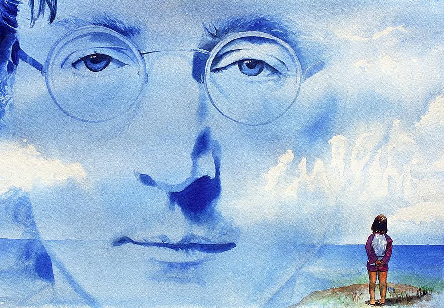 Musicians Painting - John Lennon by Ken Meyer jr