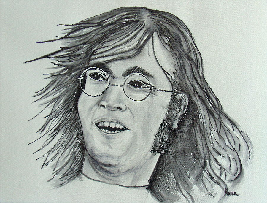 John Lennon Drawing - John Lennon by Pete Maier