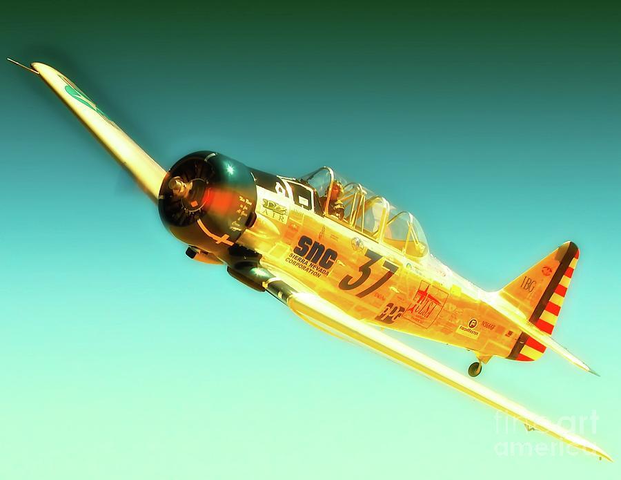 Airplane Photograph - John Zayac And T-6 Race 37 Mcdonald Racer by Gus McCrea