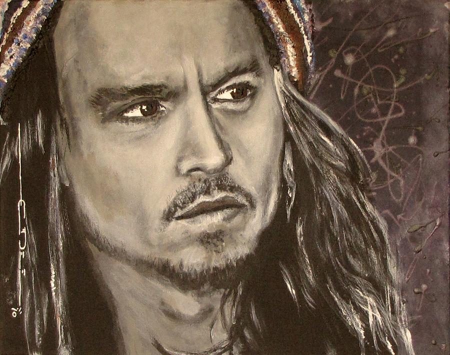 Johnny Depp Portrait Painting - Johnny Depp by Eric Dee
