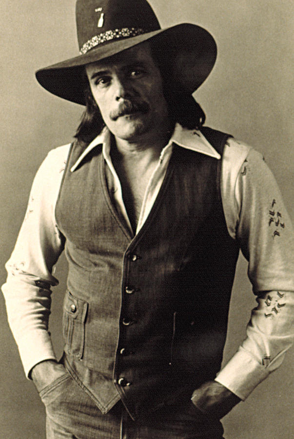 Country Western Clothes Photograph - Johnny Paycheck, C. 1970s by Everett