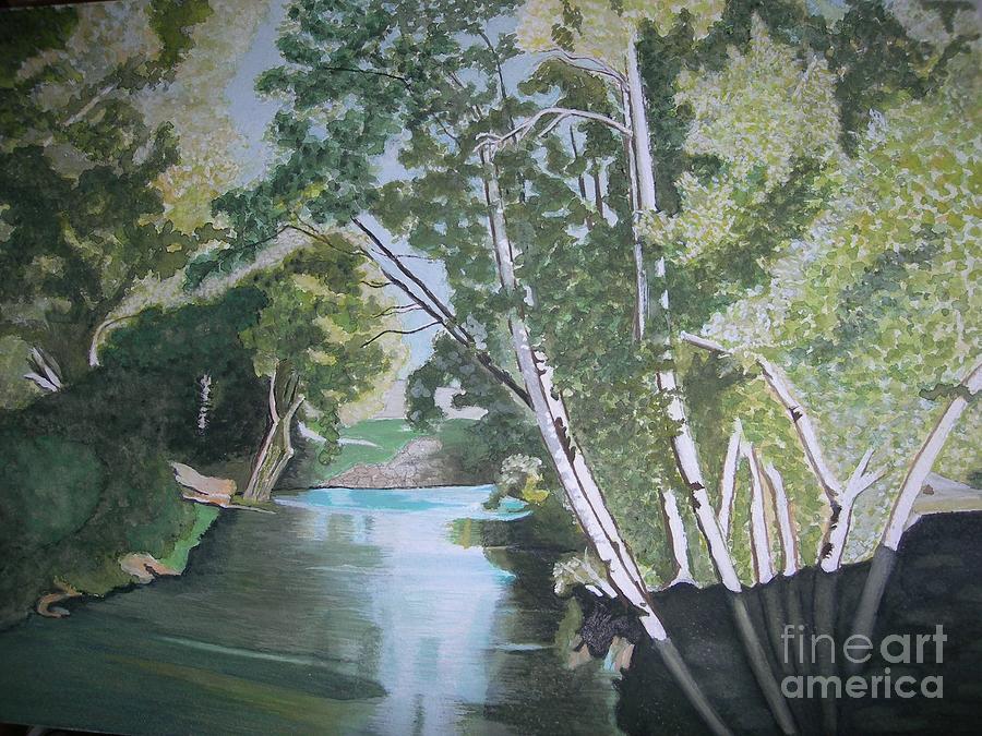 River Jordan Painting - Jordan River by Palma Poochigian