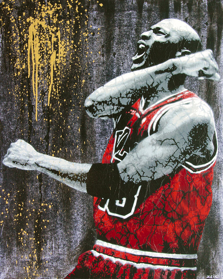 Michael Jordan Painting - Jordan - The Best There Ever Was by Bobby Zeik