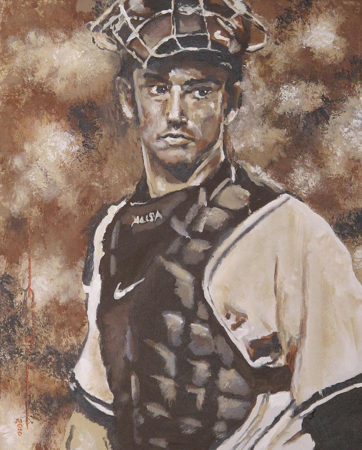 Jorge Rafael Posada Villeta (born August 17 Painting - Jorge Posada New York Yankees by Eric Dee