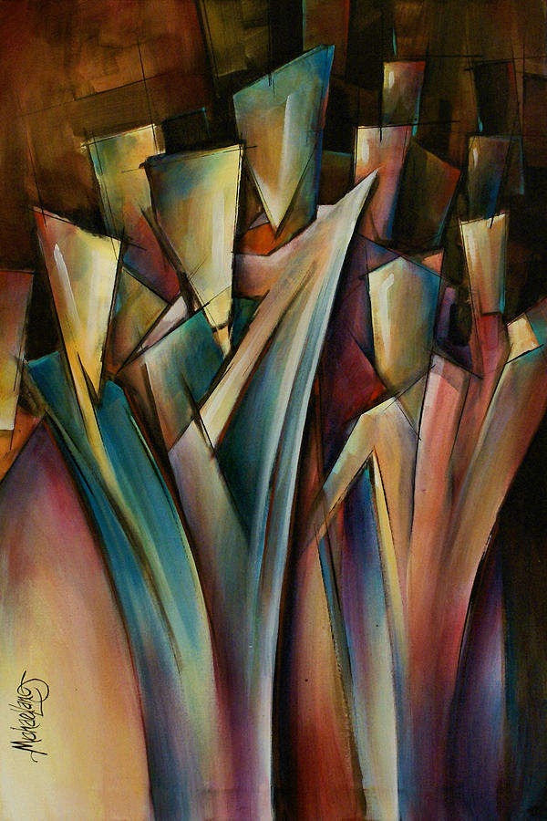 Abstract Art Painting - Journey by Michael Lang
