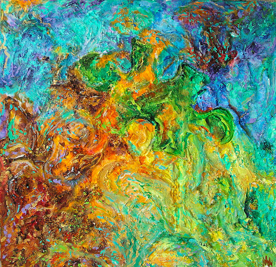 Textured Painting Painting - Journey Through Autism by Wendy Middlemass