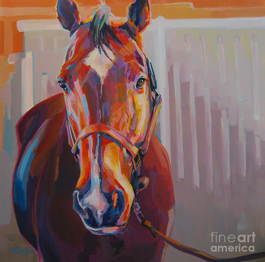 Equine Painting Painting - JT by Kimberly Santini