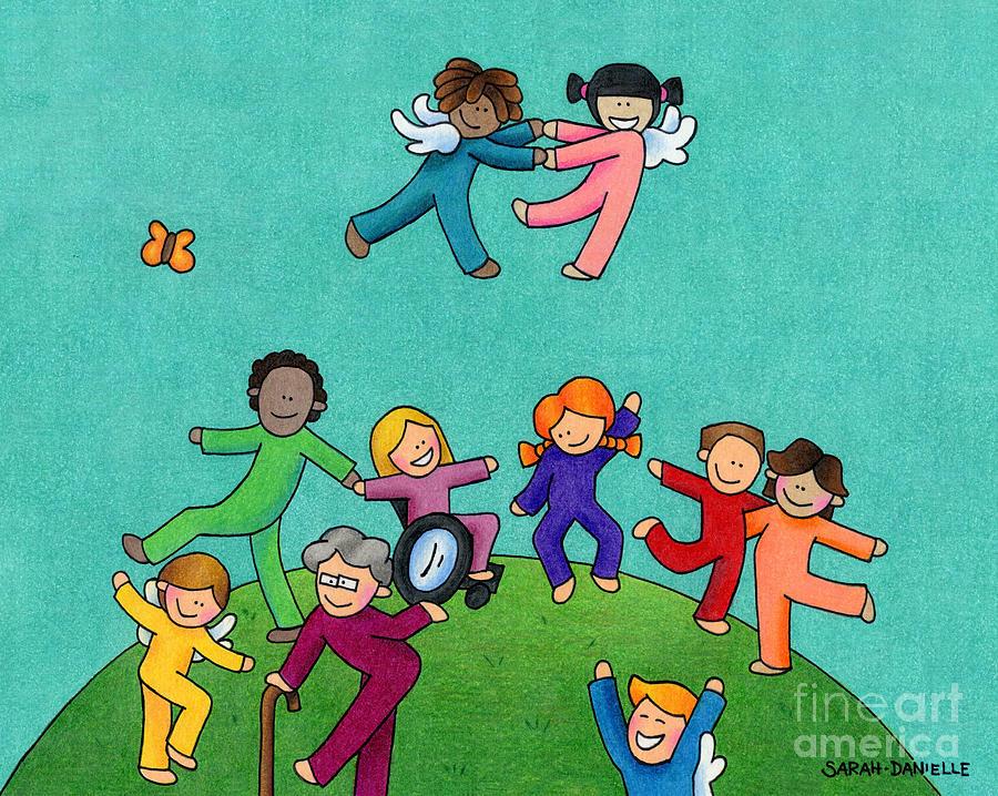 For Children Drawing - Jubilation by Sarah Batalka