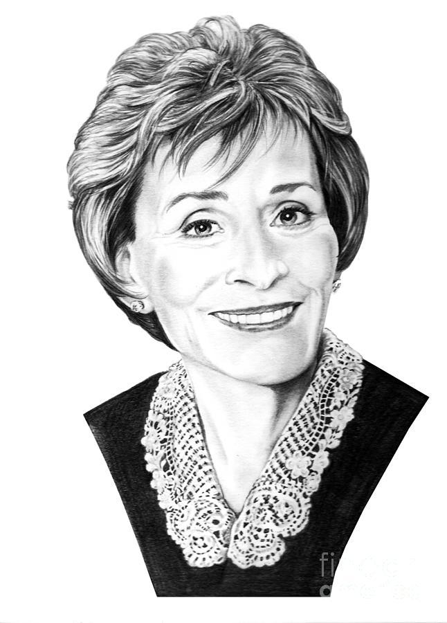 Pencil Drawing - Judge Judith Sheindlin by Murphy Elliott