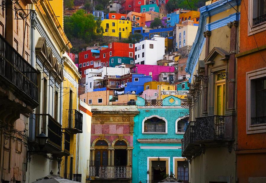 Architecture  Photograph - Juegos In Guanajuato by Skip Hunt
