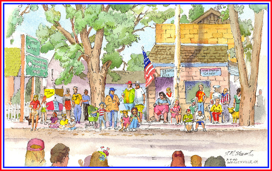 Fourth Of July Painting - July 4th 2000 by John Norman Stewart