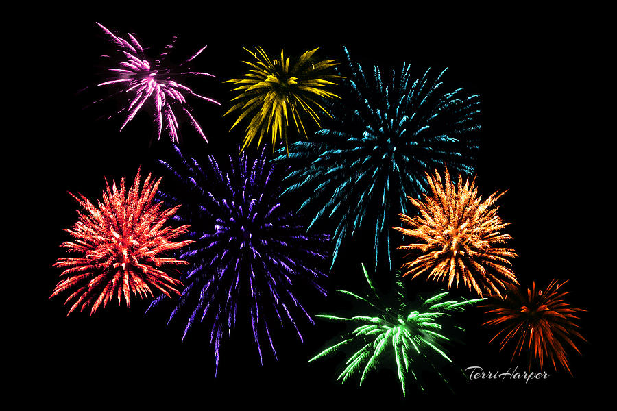 July Fireworks Montage by Terri Harper