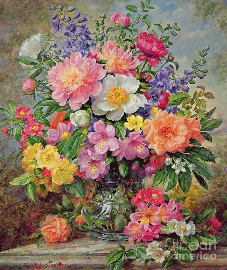 june flowers in radiance painting by albert williams