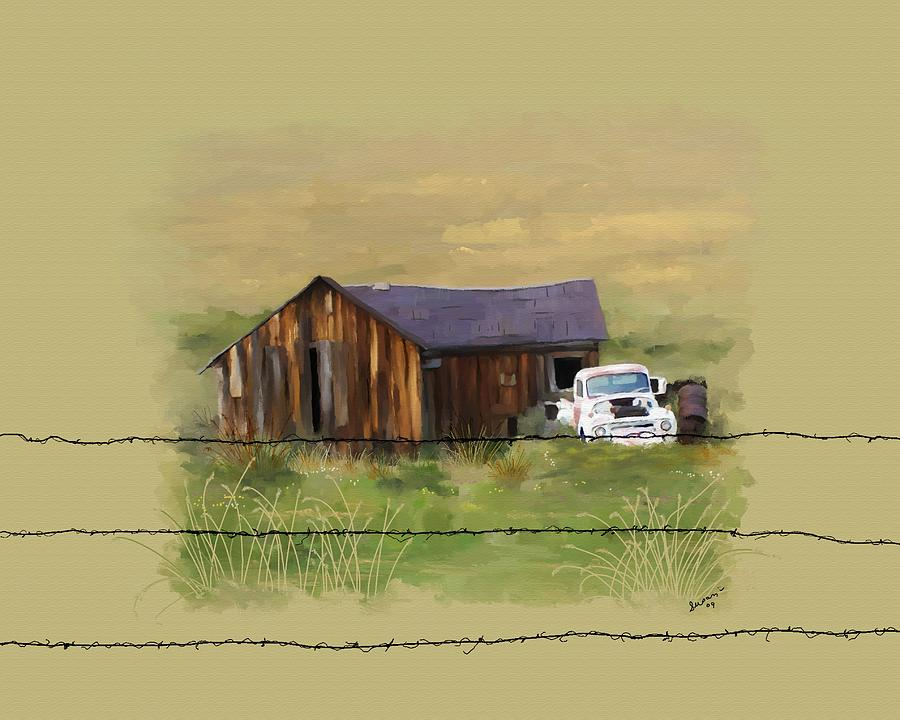Junk Painting - Junk Truck by Susan Kinney