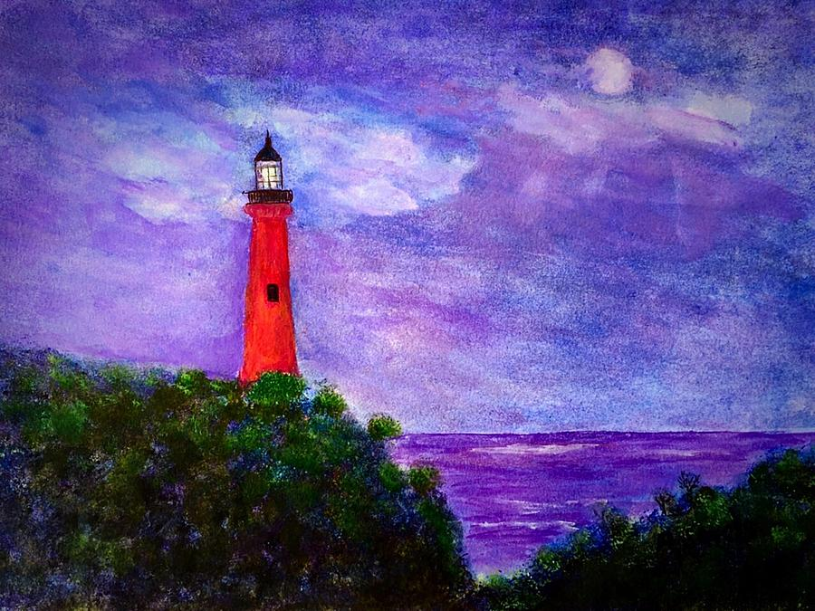 Jupiter Inlet Lighthouse Florida is a painting by Anne Sands which was ...