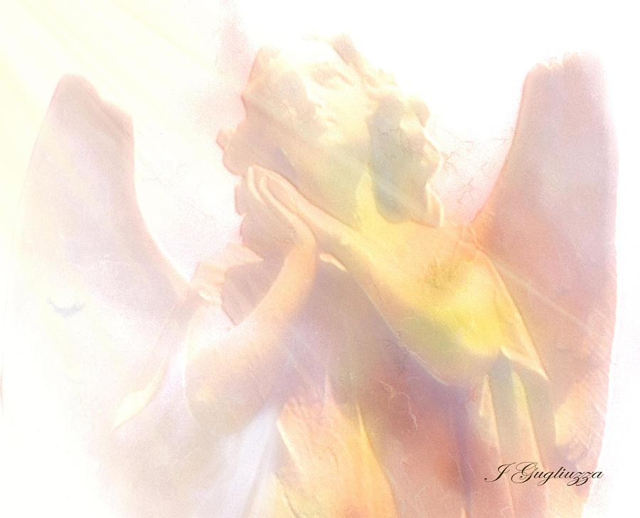 Angel Digital Art - Just A Glimmer  by Jean Gugliuzza
