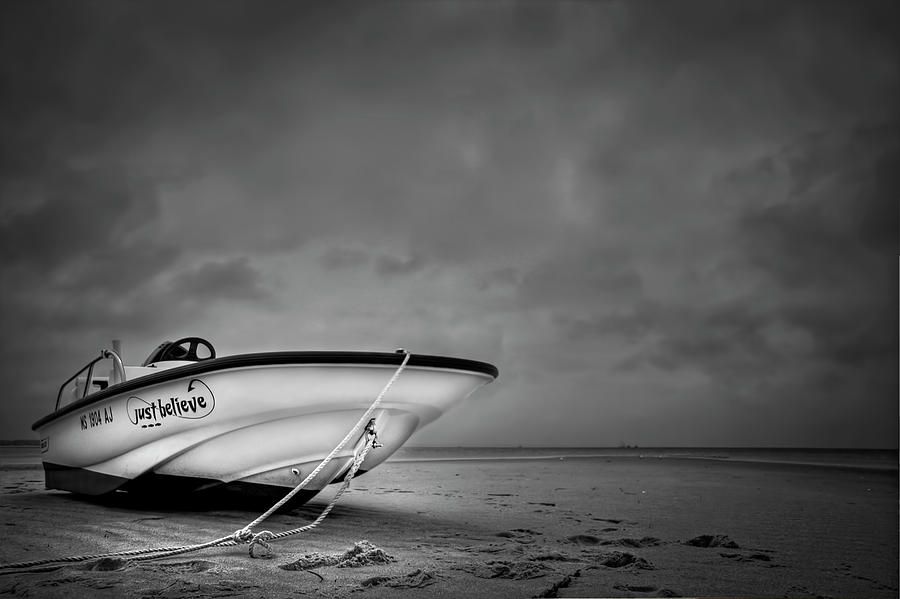 Boat Photograph - Just Believe by Evelina Kremsdorf