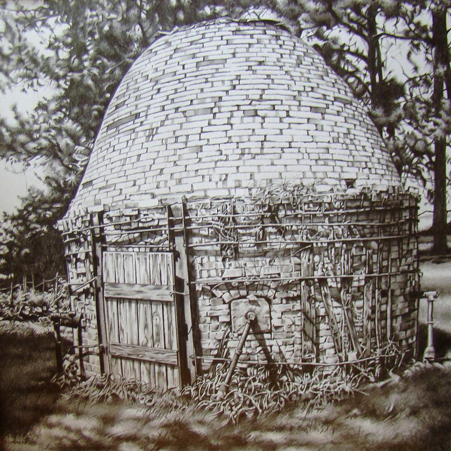Kiln Drawing - Just Outside Of Murray by Michael Lee Summers