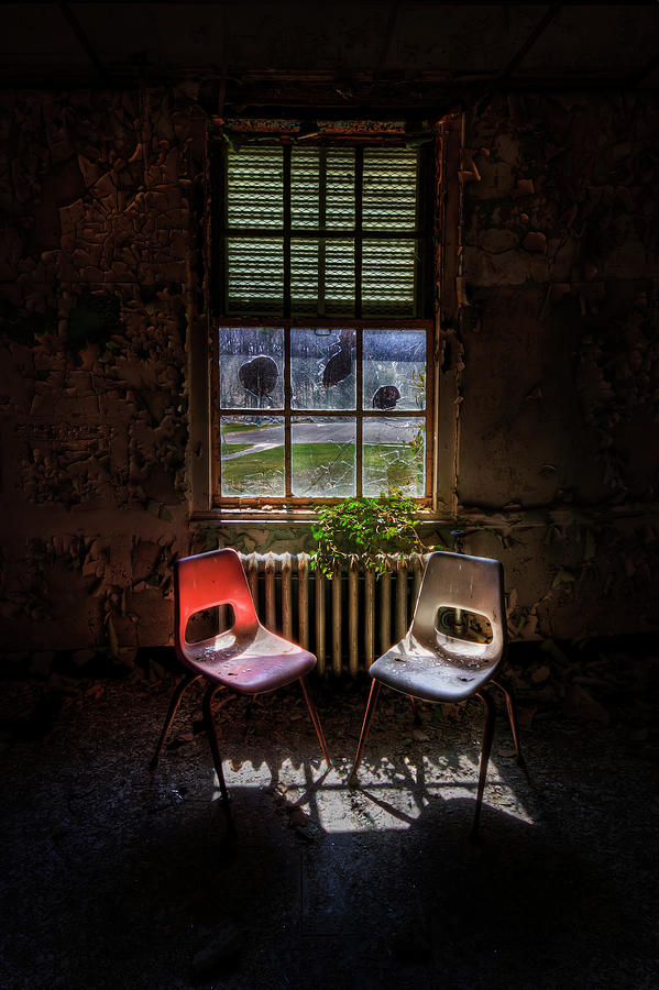 Chair Photograph - Just The Two Of Us by Evelina Kremsdorf