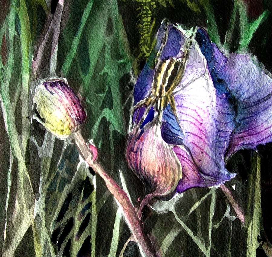 Floral Painting - Just Visiting by Mindy Newman