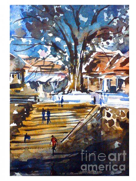 Landscape Painting - K by Sijimon Siddique