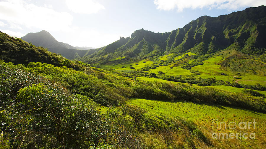 Kaaawa Valley And Kualoa Ranch Photograph