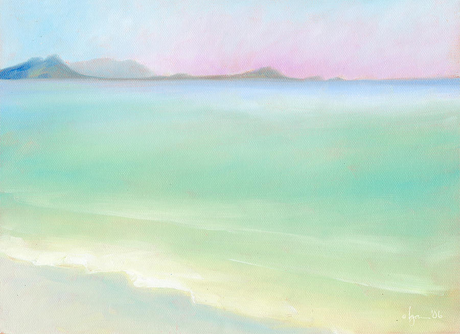 Oil Paintings Painting - Kailua Sunrise by Angela Treat Lyon