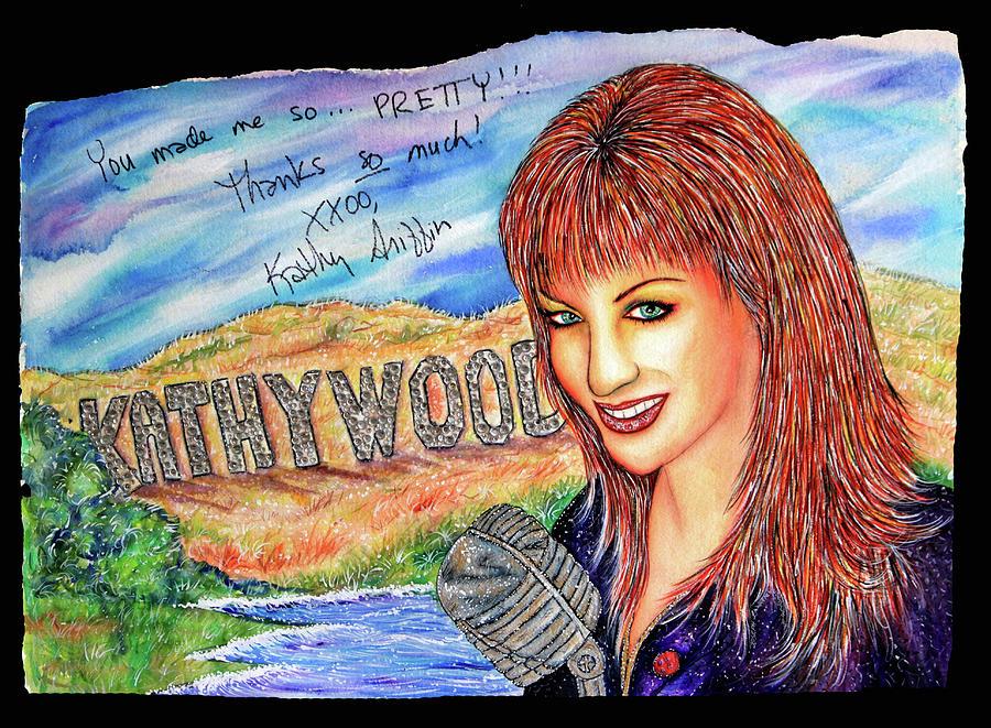 Actress Mixed Media - Kathywood by Joseph Lawrence Vasile