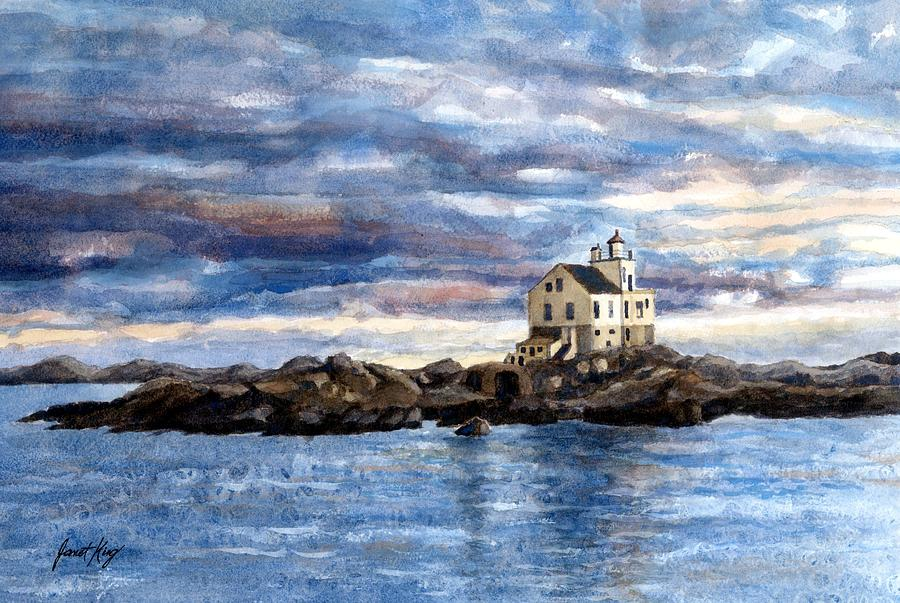 Katland Lighthouse Painting - Katland Lighthouse by Janet King